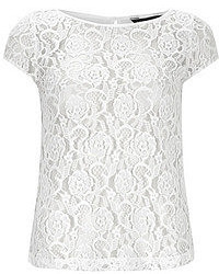 Dorothy Perkins Ivory Lace Front Tee
