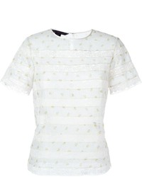 Lace insert t shirt blouse medium 717168