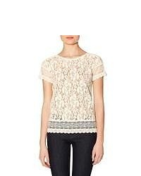 The limited lace layering tee off white m medium 49213