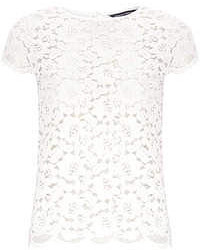 Dorothy Perkins White Scallop Lace Tee