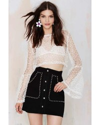 Nasty Gal Ragged Priest The Ragged Priest Flower Child Crop Top