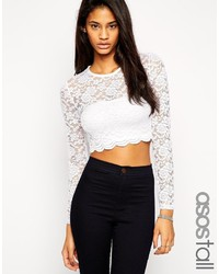 Asos Tall Lace Long Sleeve Top