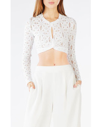 BCBGMAXAZRIA Tlor Twisted Lace Crop Top