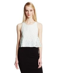 BCBGeneration Lace Cropped Top