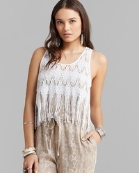 Free People Cami Fringe Lace
