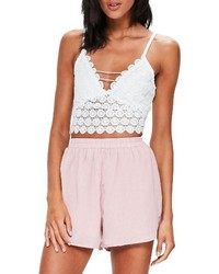Circle lace crop tank medium 4401447