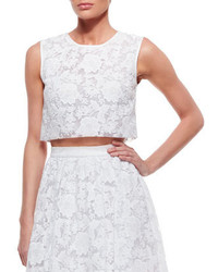 Erin Fetherston Sleeveless Lace Crop Top