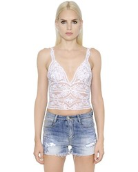 Ermanno Scervino Lace Crop Top