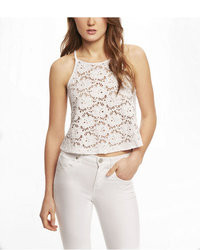Express Lace Cropped Trapeze Cami
