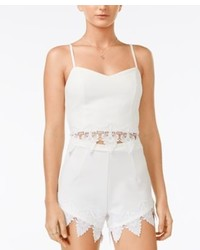 Material Girl Juniors Lace Trim Crop Top Only At Macys
