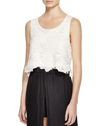 Ella Moss Lace Crop Top 100% Bloomingdales