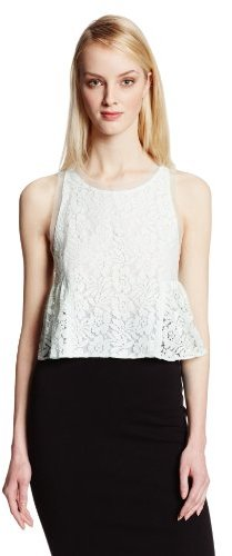 8124e63f68a BCBGeneration Lace Cropped Top, $54   Amazon.com   Lookastic.com