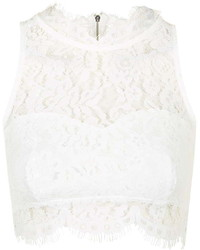 Topshop Lace High Neck Crop Top