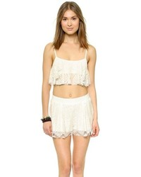 Love sadie lace crop top medium 130932
