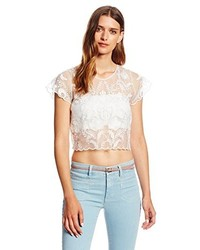 Lovers + Friends Loversfriends Hey Love Crop Lace Top