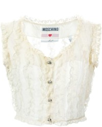 Moschino Vintage Lace Frill Waistcoat