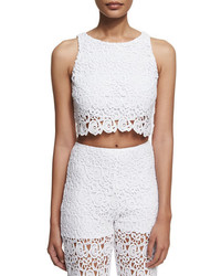 Miguelina Rosi Floral Lace Crop Top