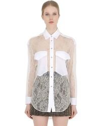 White Lace Dress Shirt