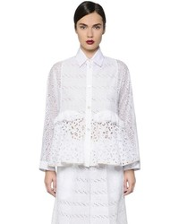 Cotton sangallo lace poplin shirt medium 716383