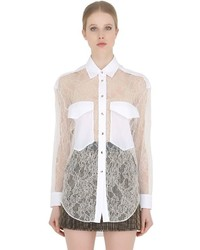 Francesco scognamiglio viscose lace shirt medium 716371