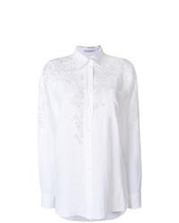 Ermanno Scervino Lace Detail Button Down Shirt