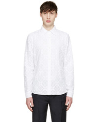 Burberry Prorsum White Lace Shirt