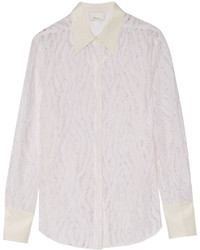 3.1 Phillip Lim Silk Trimmed Lace Shirt