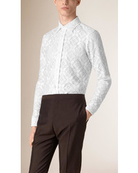 Burberry Slim Fit Italian Lace Shirt