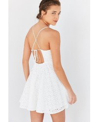 Kimchi & Blue Kimchi Blue Lace Strappy Back Fit Flare Dress