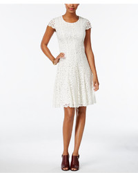Tommy Hilfiger Lace Fit Flare Dress