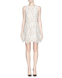 Alice + Olivia Leann Sleeveless Lace Skater Dress