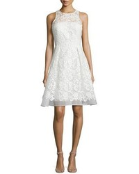 David Meister Sleeveless Fit And Flare Lace Dress