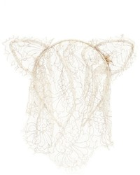 Maison Michel Heidi Cat Ear Lace Veil Headband