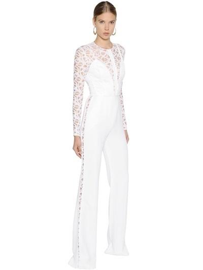 Elie Saab Cady Lace Jumpsuit 3 625 Luisaviaroma Lookastic
