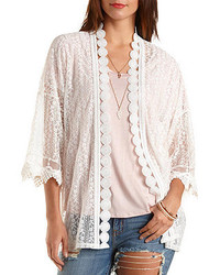Charlotte Russe All Over Lace Kimono Top
