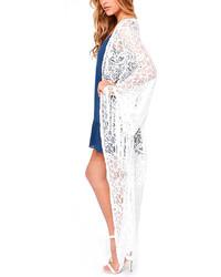 Chicnova white lace tassel kimono medium 191233