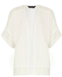 Dorothy perkins ivory lace trim detail kimono medium 191234