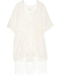 Jemima fringed cotton lace kimono medium 191223