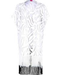 River Island White Lace Gradient Fringed Kimono