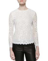 Diane von Furstenberg Brielle Long Sleeve Lace Top