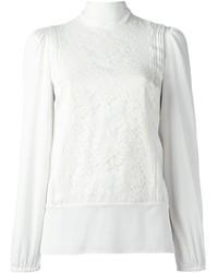 Dolce & Gabbana Floral Lace Panel Blouse