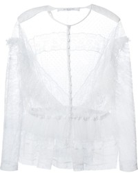 Givenchy Ruffled Lace Blouse