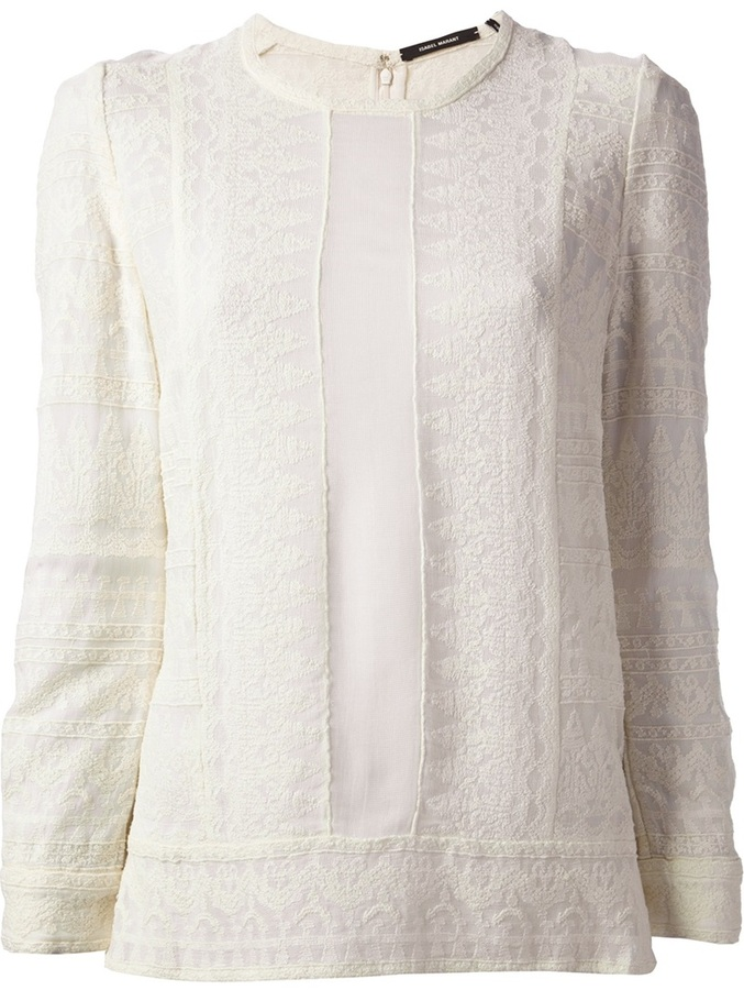 0b228b4109 Isabel Marant Tess Lace Top, $526 | farfetch.com | Lookastic.com
