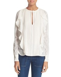 See by Chloe Lace Ruffle Blouse