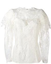 Lanvin Floral Lace Blouse