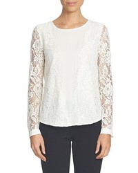 Scallop lace crepe blouse medium 1210435