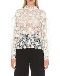 Self-Portrait Shakespeare Lace Blouse