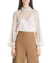 See by Chloe Sheer Lace Blouse