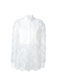 Ermanno Scervino Sheer Paisley Layered Shirt