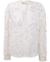 Valentino Sheer Lace Blouse